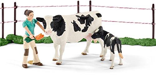 Schleich 41428 – Kuhfamilie auf der Weide, mehrfarbig - 2