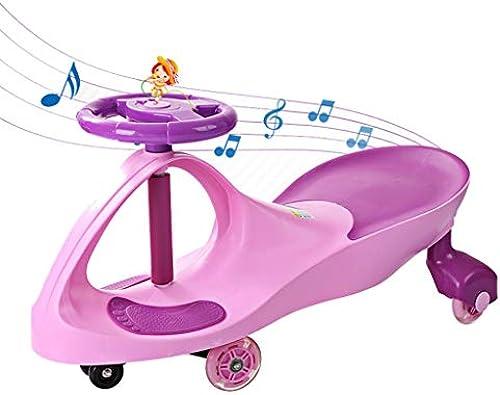 Kids Twist Car, Kinder Spielzeugschaukel Auto Junge mädchen Spielzeugauto fürt Swivel Silent Rad Mit Musik Und Flash