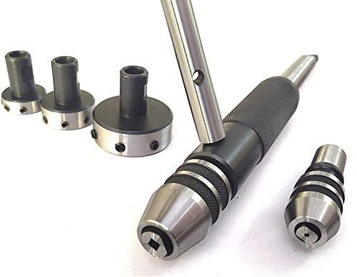 Gewinde- und Gewindeschneid-Aufsatz für Drehmaschine, Reitstock, Werkzeughalter (MT2))