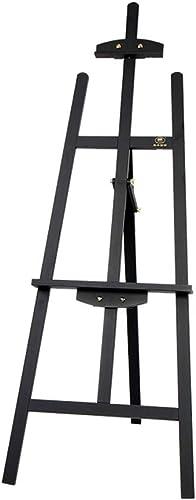 ZHPBHD 1,45 m Kiefernholzstaffelei, geeignet für professionelles Bemalen von 4-k-Zeichenbrettern, geeignet für Schüler und Erwachsene Staffelei (Farbe   schwarz)
