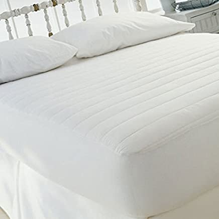 Sweet Home Collection 15 Polyester Fill Fitted Mattress Pad Skirt,  Queen