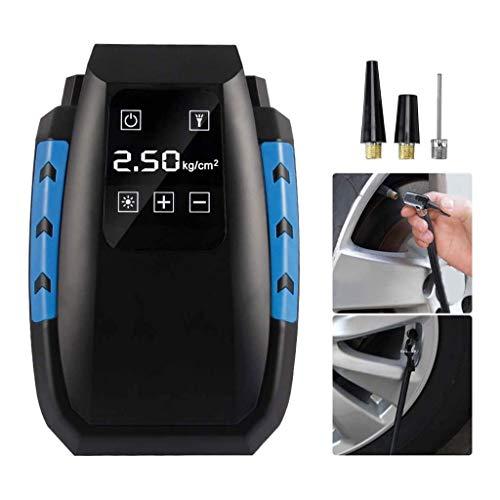 NCRD Compresor de aire del inflador de neumáticos, bomba de aire portátil para neumáticos de automóviles 12V, bomba de neumático eléctrico digital, luces LED, bomba de neumáticos para bicicleta de aut