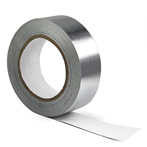 TRIXES Isolierklebeband aus Aluminium 40mm x 50m hitzebeständig und selbstklebend