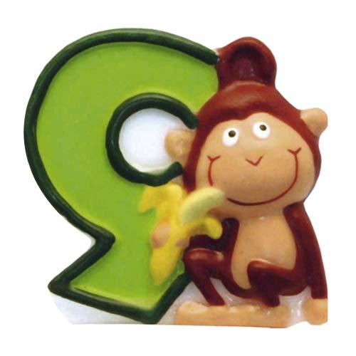 Bougie Safari N°9 - Anniversaire Enfant - Goûter enfant