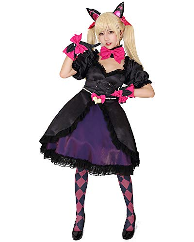 miccostumes Women's Dva Black Cat Skin Cosplay Costume Dress with Petticoat (L)