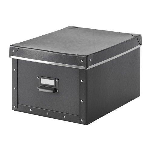 IKEA FJÄLLA Box mit Deckel (27x36x20cm); in dunkelgrau; KASSETT Nachfolger