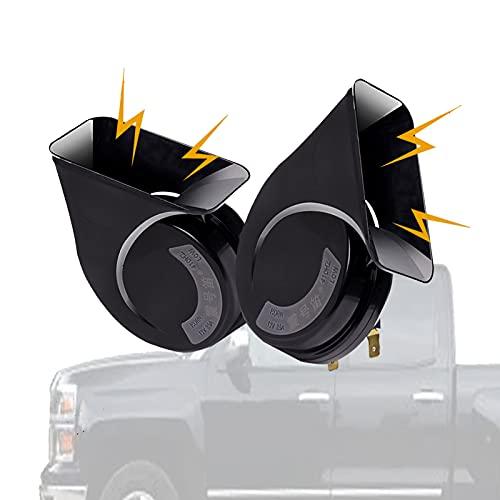 HLDUYIN 12v Cuerno De Caracol Bocina De Tren Camion Electrica Bocina De Aire, con Forma De Caracol Sonido Fuerte Tono Universal para AutomóViles Motocicletas(2PCS)