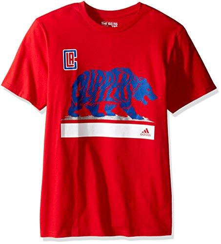 adidas Clippers Growl S/Go-to Tee, Herren, Clippers Growl S/S Go-to Tee, rot, X-Large