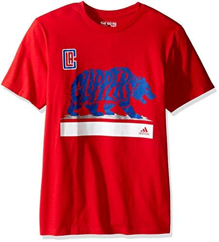 adidas Clippers Growl S/S Go-To Camiseta para Hombre, Color Rojo, XL