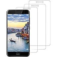 DASFOND [3 Piezas Protector de Pantalla para Huawei P8 Lite 2017,Cristal Templado de Resistente a Arañazos 9H Dureza, Alta Definición Cristal Vidrio Templado Protector para Huawei P8 Lite 2017