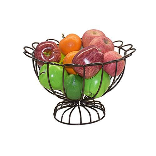 MSF Bestek Rekken Fruit Bowl Woonkamer Creatieve Fruit Candy Cake Basket Lade Rack, Smeedijzeren Lineaire Kaas Plate Schaal voor Keuken Koffie Tafel, Rond
