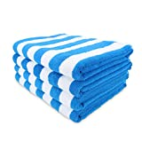 Arkwright Oversized Beach Towels (35x70, 4-Pack), Ringspun Cotton...