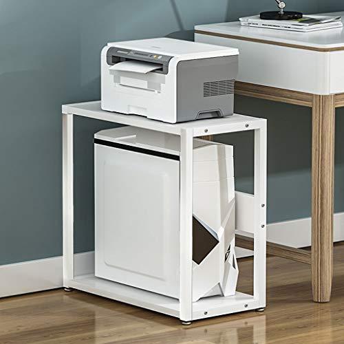 Carro de la impresora Base de la impresora 2 Capa escritorio ordenado organizador de escritorio de almacenamiento de impresora estante CPU Chasis huésped adecuado for la seguridad del escritorio Sopor