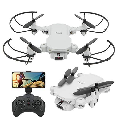 DAUERHAFT Mini Drone Pieghevole Quadricottero Giocattolo educativo di Piccole Dimensioni Volo Stabile per Bambini/Giocattolo per(White, 4k)