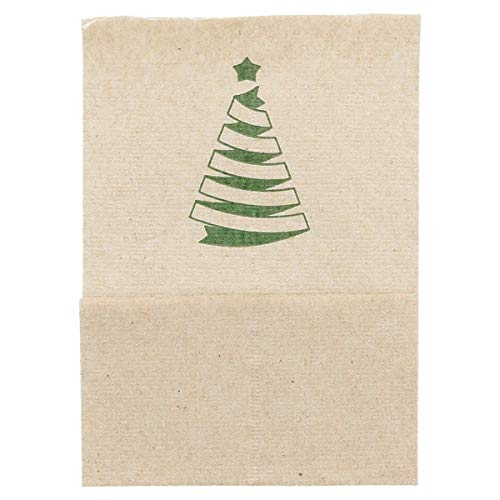 García de Pou 802.03 Servilletas Mini Servis Christmas, Natural Reciclado, 1 Capa, 23 G/M2, 17 x 17 cm, Marrón