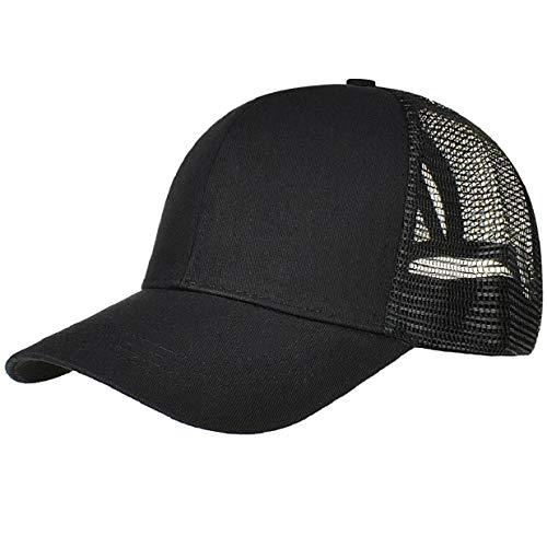 heekpek Gorra de Béisbol Casual Hats Hip-Hop Sombrero Sol al Aire Libre Tenis Deporte Golf Verano para Hombre Mujer Chico Media Tejido de Transpirable