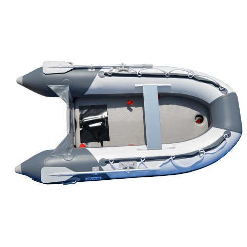 BRIS 8.2 Ft Inflatable Boat Inflatable Pontoon Dinghy Raft Tender Boat with Air-Deck Floor
