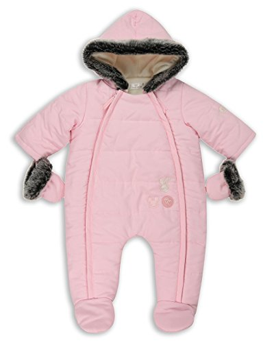 The Essential One The Essential One - Baby Mädchen Kunstpelz Schneeanzug Snowsuit - Rosa - 68/74cm | 6-9m - EO251