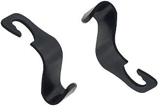 2 Pack Car Vehicle Seat Headrest Hook Hanger for Grocery Bag Purse Handbag Water Bottle (Black)