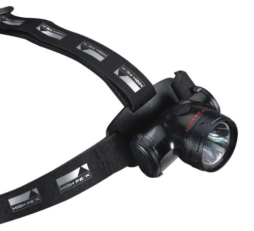 High Peak Headlamp Trek&Run I Lampe frontale LED Noir 57 x 80 x 45 mm