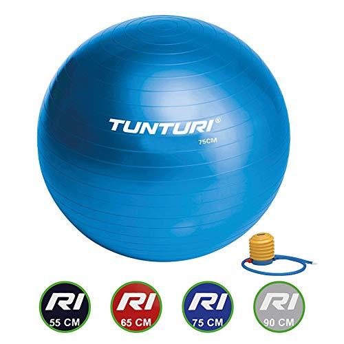 Tunturi 14TUSFU134 Gym Ball - Palla Da Ginnastica - Blu - 55 Cm, Unisex – Adulto, Blue, 55 cm
