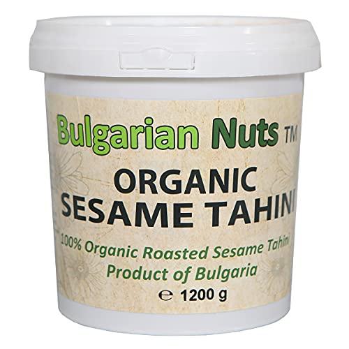 Tahini de sésamo orgánico de 100% semillas enteras, sin gluten, emulsionantes, aceite de palma, azúcar, conservantes
