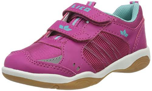 Lico Mädchen Filou V Multisport Indoor Schuhe, Pink (Pink/Türkis Pink/Türkis), 25 EU