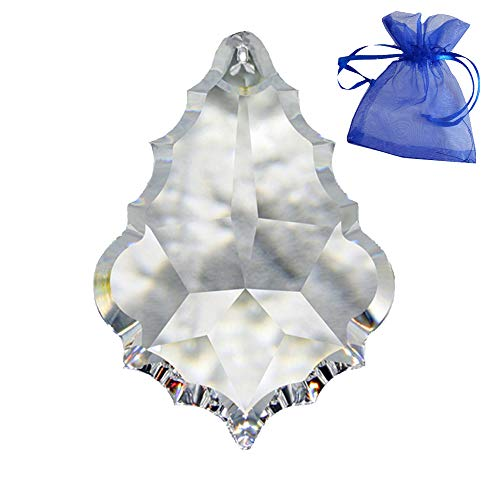 Kristall Pendel Barock L. 76mm im feinem Geschenkbeutel Regenbogenkristall Sonnenfänger Feng Shui 30% Pbo Bleikristall Kronleuchter Behang