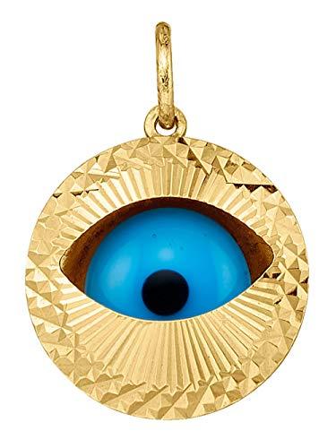 KLiNGEL Anhänger -magisches Auge- Blau