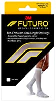 Futuro Anti-Embolism Stockings, Knee Length Closed Toe, White, Large, Moderate (18 mm/Hg) by Futuro