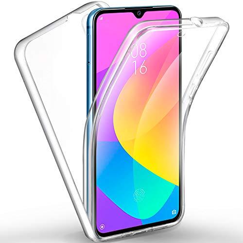 AROYI Cover Xiaomi Mi A3, Xiaomi Mi A3 Custodia Transparent Silicone TPU e PC Full Body Protettiva Premium Resistente Ai Graffi Case Cover per Xiaomi Mi A3