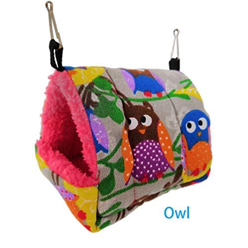 ZFFLYH Hamster Cotton Nest Honing tas Slaapbed Parrot Koning Eekhoorntje Mini Egel Warm Winter Verdikke Hammock