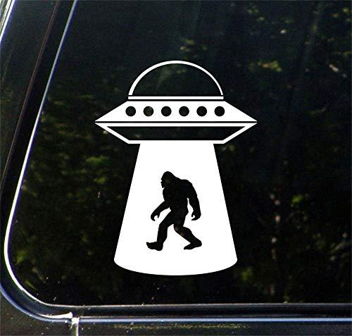 H421ld Calcomanía de vinilo para coche, Sasquatch UFO Abduction, Bigfoot, Alien, para coche (10 cm de ancho x 14 cm de alto) (opciones de color)