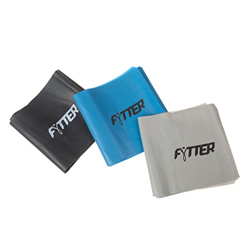 FYTTER x 3 Fitness Afb03B Juego de Gomas de Yoga, Unisex Adulto, Azul/Gris/Negro