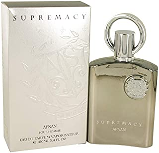 Afnan Supremacy Silver 3.4 oz Eau De Parfum Spray For Men