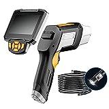 Boroscopio de mano 1080P HD Endoscopio industrial digital con pantalla desmontable de 4,3 pulgadas y cámara de serpiente de doble lente de 8 mm, herramientas de inspección para tuberías de HVAC