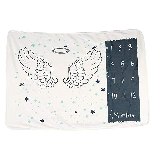 Couverture Doux Bébé Mois Mensuel Toddlers Sleeping Swaddle Couverture Wrap repassage Nécessaire pour Nouvelle Maman Cadeau de Bain de Bébé(#3)