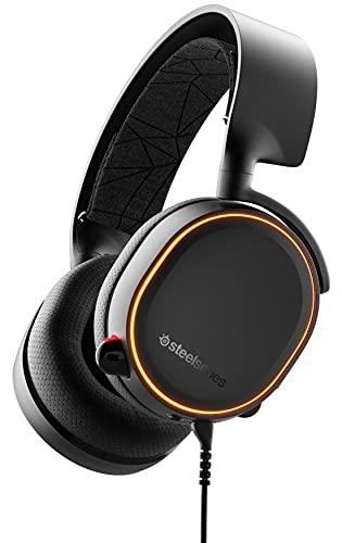 SteelSeries Arctis 5 - Casque de Jeu à Éclairage RVB - Son Surround DTS Headphone:X v2.0 pour PC, Playstation 5 et PS4 - Noir