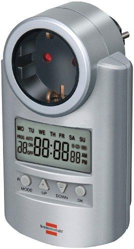Brennenstuhl Primera-Line Zeitschaltuhr DT, digitale Timer-Steckdose (Wochen-Zeitschaltuhr mit Countdown-Funktion & erhöhter Berührungsschutz)