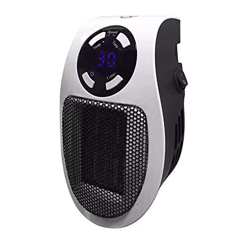 Kuinayouyi - Radiador eléctrico portátil con termostato, apto para la oficina, la oficina, a un enchufe europeo para uso en interiores