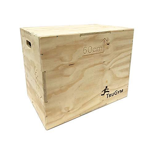 TruGym 3-in-1 Plyo Jump Squat Box - 50cm x 60cm x 75cm – Flatpack