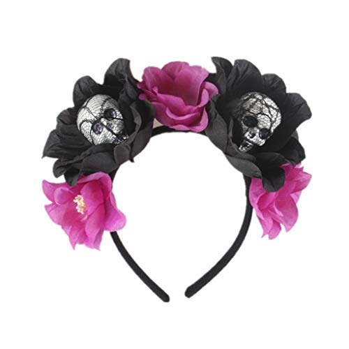 Diadema de Araña Ajustable Tocado de Halloween Rosa Flor Accesorios d