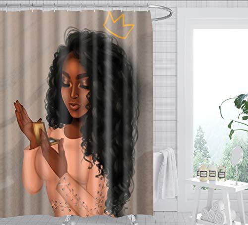 Douchegordijn Badkamer Leuke Vrouw Meisje Print Gordijn Waterdicht Bad Gordijn Polyester Meeldauw Badkamer Gordijn 180X200Cm