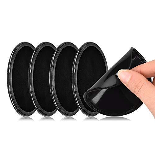 5 Stück Universal Auto Anti Rutsch Pads,Nano Pad, Doppelseitig klebende, Fixate Gel Pad für Armaturenbrett und Wandhalterung, Klebepads Kleben auf Sämtlichen Oberflächen (Schwarz)