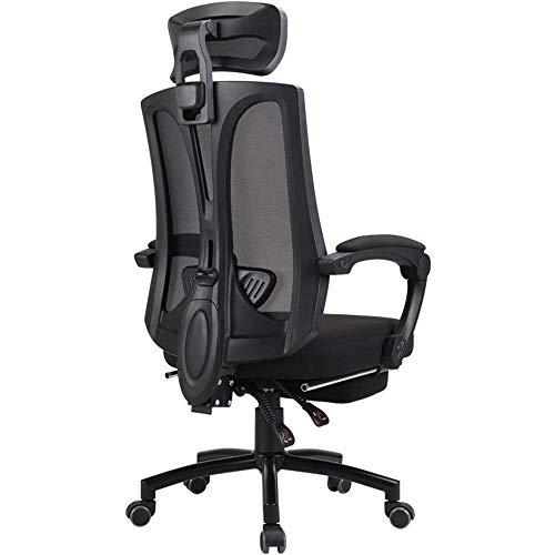 WSDSX Schlafzimmer Home Office Schreibtischstuhl Atmungsaktives Netz 150 ° bequem liegend Home Game Stuhl Verstellbare Kopfstütze und Lordosenstütze Mit Fußstütze Tragfähigkeit 330 lbs (Farb