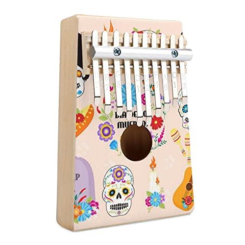Símbolos coloridos Dia De Los Portable Music Finger Piano Regalos para niños y adultos, regalo para niños adultos principiantes profesionales.