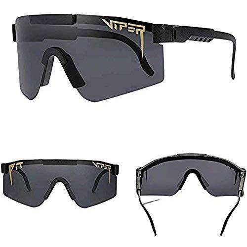 TFNYCT Pit Viper Gafas de sol para ciclismo al aire libre, Pit Vipers Gafas de ciclismo UV400 Deportes polarizados para hombres y mujeres (C01)