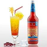 Tequila Sunrise 28% Vol.   Premix, Fertig Mix für 17 Cocktails mit Alkohol   Flasche 0,7l mit allen Zutaten   Einfach mit Orangensaft mixen