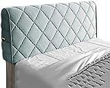 Almohadas de lectura Cubierta de cabecera Hussen Bedkoptor Cubierta de cabecera a prueba de polvo, cubiertas para dormitorio Elástico Tapa de cabeza de cama todo incluido, lavable, tamaño doble / tama