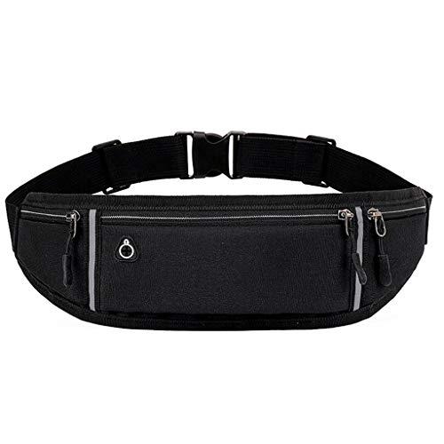 PING - Soporte elástico para teléfono móvil, ajustable, para correr, cinturón de entrenamiento, cintura cómoda y ligera, Bk,